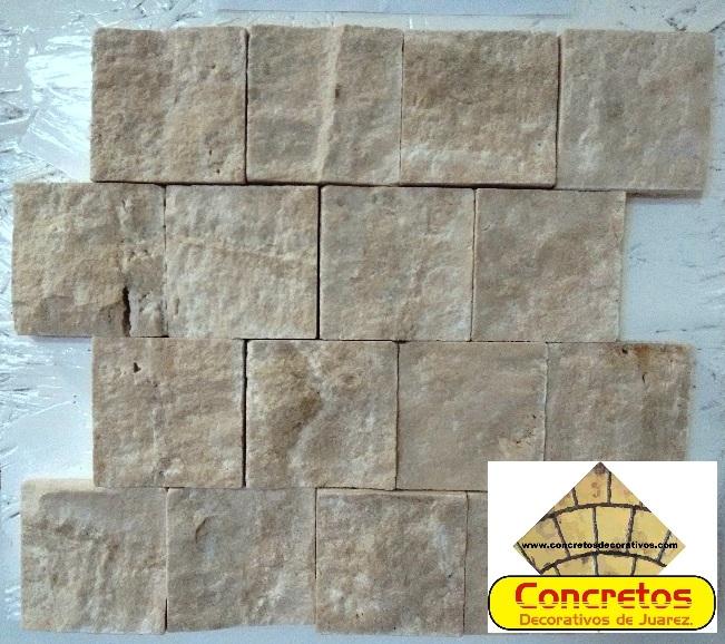 Concretos decorativos for Marmol travertino claro