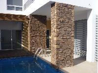 Columnas con piedra